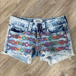 Daytrip Capricorn Frayed Shorts